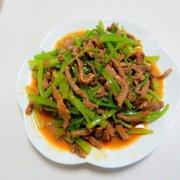 芹菜炒牛肉丝的做法