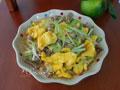 韭黄肉丝炒鸡蛋的做法