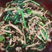 韭菜百叶肉丝的做法