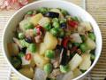 豌豆炒杂蔬的做法