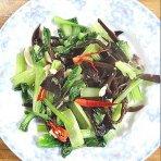 青菜拌木耳