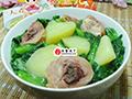 油菜蕻腊鸡腿煮土豆的做法