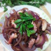 洋葱炒章鱼的做法