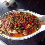 双椒淋汁鱼的做法