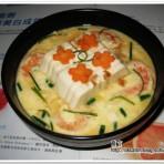 大虾蒸豆腐