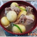 排骨咸肉土豆煲