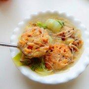 白菜粉条炖藕饼的做法