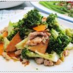 肉丝炒花菜