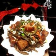 红烧肉炖干豆角的做法