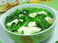 菜芯煮豆腐的做法