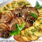 香煎鲳鱼与土豆