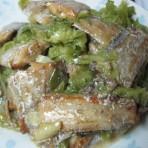 白菜心烧带鱼