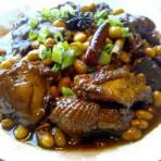 黄豆焖仔鸡的做法