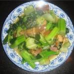 苔心菜炒咸肉