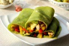 彩椒鸡肉菠菜卷的家常做法