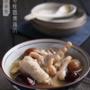 红枣桂圆花生煲鸡爪的做法