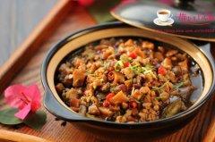香菇肉酱茄子煲的家常做法