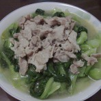 肉片炒上海青的家常做法