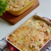 火腿胡萝卜焗饭的做法