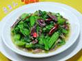鸭胗炒菜芯的做法