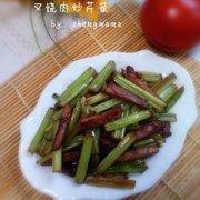 叉烧肉炒芹菜的做法
