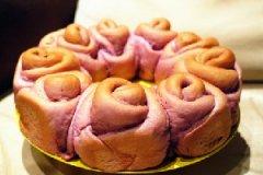 玫瑰花环面包的家常做法
