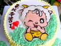 木糖醇羊宝宝转印蛋糕的做法