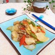 肉末炒饺子皮的做法