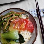 番茄青菜面的做法