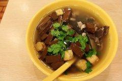 南京鸭血粉丝汤的做法