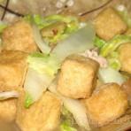 大白菜炒豆腐卜