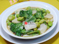 生菜蚕豆炒年糕的做法