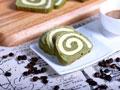 德普烤箱食谱——抹茶戚风面包卷的做法