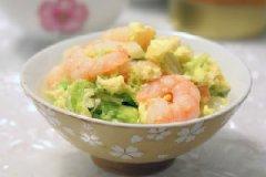 蛋卧虾仁白菜的家常做法