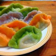 彩色水饺的做法