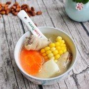 快手汤胡萝卜玉米山药鸡肉汤的做法