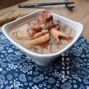 粉葛花生猪骨汤的做法