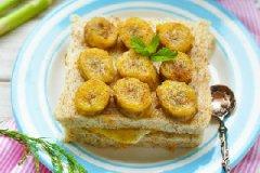 肉桂香蕉花生酱土司的做法