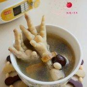 花生红枣鸡爪汤的做法