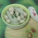 萝卜圆子汤