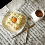 高颜值早餐—火烧云吐司的做法