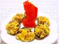 大蛤炒鸡蛋的做法