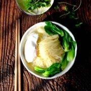 碗鸡蛋青菜面的做法