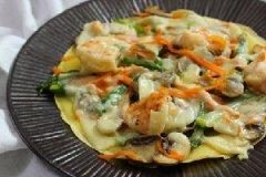 芝士蔬菜蛋煎饼的做法
