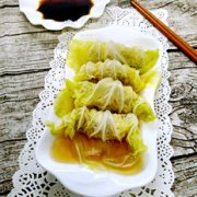 菜叶蒸饺子的做法