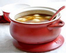 白果糍粑补血汤的家常做法图解