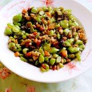 榄菜炒豆角的做法