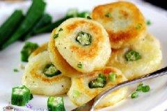 秋葵土豆饼的做法