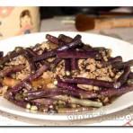榄菜肉松炒豆角