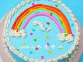 彩虹蛋糕的做法